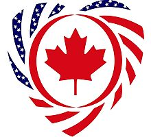 Canadian American Multinational Patriot Flag Series 2.0 Photographic Print