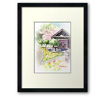 Spring in Maxell Cherry Gardens Framed Print