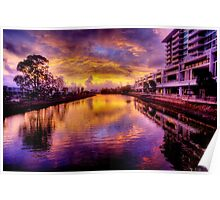 Cornmeal Creek at Sunset-2252-4 Poster