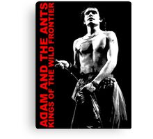 ADAM AND THE ANTS Kings Of The Wild Frontier T-Shirt Canvas Print