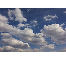 Clouds in blue sky Photographic Print