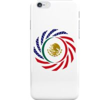 Mexican American Multinational Patriot Flag Series 1.0 iPhone Case/Skin