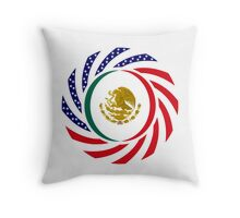 Mexican American Multinational Patriot Flag Series 1.0 Throw Pillow