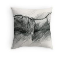 "Study for ""What's he up to?"" Throw Pillow"