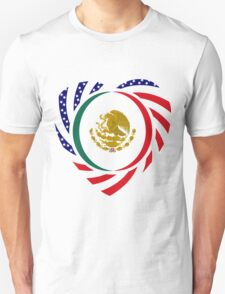 Mexican American Multinational Patriot Flag Series 2.0 T-Shirt