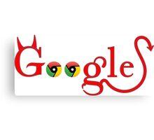 Devil Google Canvas Print