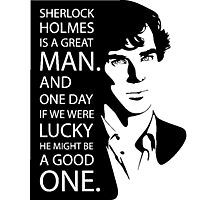 we love sherlock Photographic Print