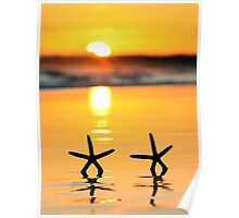 Sunset Starfish Poster