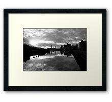 Cork port early morning Framed Print