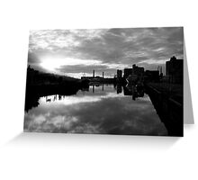 Cork port early morning Greeting Card