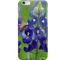 Bluebonnet and bee iPhone Case/Skin
