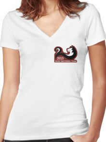 NUSC Nationals 2015 Women's Fitted V-Neck T-Shirt