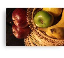 Reflecting upon fruit Canvas Print