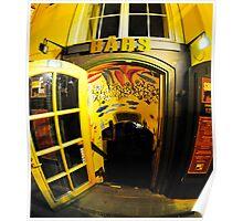 Shot Cafe opposite Old Shot Tower, Old Riga Poster