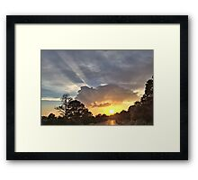 Sun Set  in Jerome Framed Print