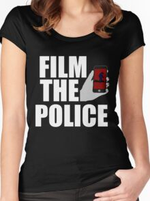 FILM THE POLICE (I CAN'T BREATHE)  Women's Fitted Scoop T-Shirt