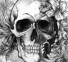 Flower Skull by afzucatti