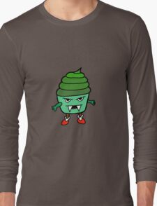 GREEN MUFFIN MONSTER Long Sleeve T-Shirt