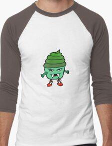 GREEN MUFFIN MONSTER Men's Baseball ¾ T-Shirt