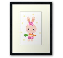 Kids cartoon bunny Framed Print