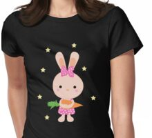 Kids cartoon bunny Womens Fitted T-Shirt