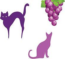 GRAPE CATS by VividAudacity