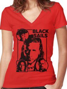 Black Sails Women's Fitted V-Neck T-Shirt