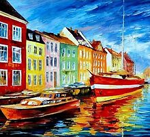 Amsterdam, City Dock — Buy Now Link - www.etsy.com/listing/229138317 by Leonid  Afremov