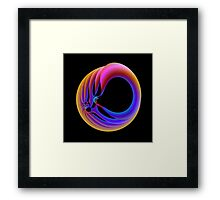 Trapped in Blue and Orange Framed Print