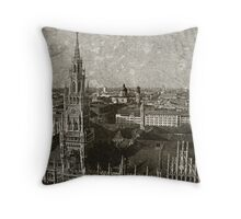 Faded Memories-Munich Throw Pillow