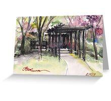 Maxell's Cherry Gardens. Telford, Shropshire, England Greeting Card