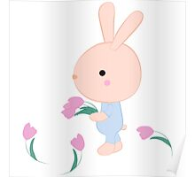 Kids cartoon bunny Poster