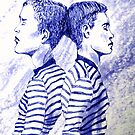 2 boys back 2 back by Arzeian