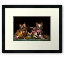 Cat - Mischief makers 1915 Framed Print