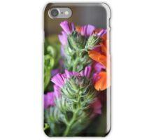 Flower Bouquet- Statice Dark Pink iPhone Case/Skin