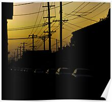 Dusk at Albion Street Poster