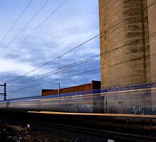 The 7.25pm to Flinders on the Upfield Line by Mik Efford