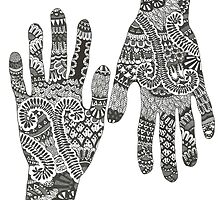 Ink hand (henna design) by Ibubblesart