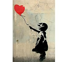 Banksy Red Heart Balloon Photographic Print