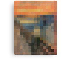 pixel scream Canvas Print