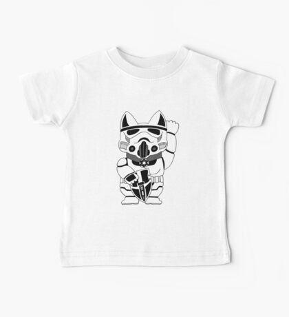 Lucky Trooper Cat Baby Tee