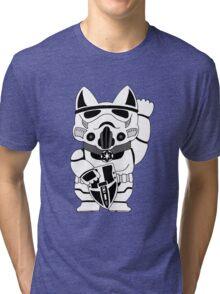 Lucky Trooper Cat Tri-blend T-Shirt