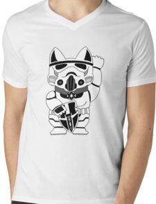Lucky Trooper Cat Mens V-Neck T-Shirt