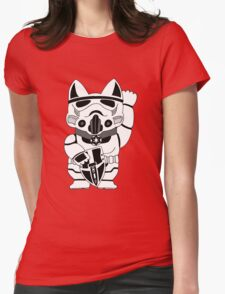 Lucky Trooper Cat Womens Fitted T-Shirt