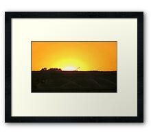 Sunrise At The Farm Framed Print