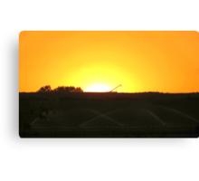 Sunrise At The Farm Canvas Print
