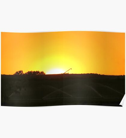 Sunrise At The Farm Poster