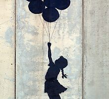 Floating Balloons by Banksy by Flandabble