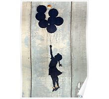 Floating Balloons by Banksy Poster