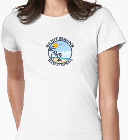 St. Simons Island - Georgia. Womens Fitted T-Shirt